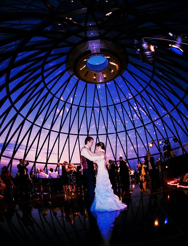 The Gherkin, a unique wedding venue in London.