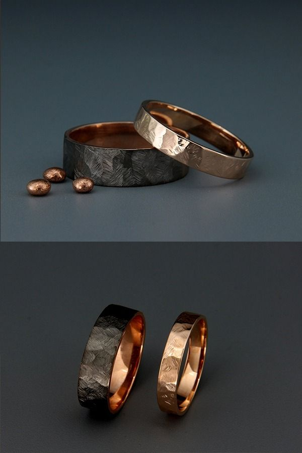 Black and Bright 14k Rose Gold
