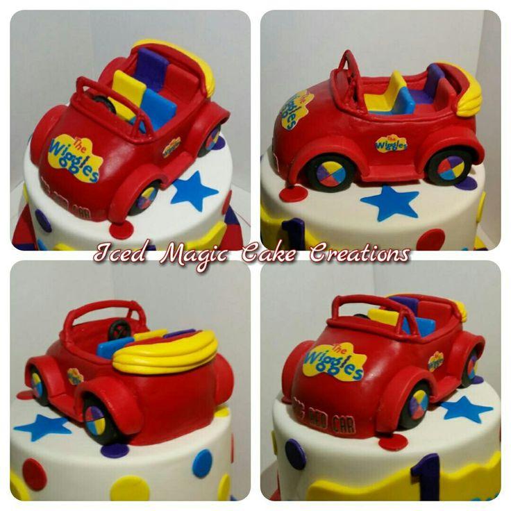 The Wiggles Big Red Car cake topper www.facebook.com /icedmagiccreations