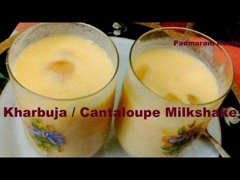 Sri's Muskmelon / Kharbuja / Cantaloupe Milkshake with Honey Recipe in t...