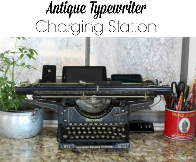 Repurpose a vintage typewriter into a charging station - KnickofTime.net