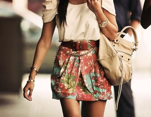 : Floral Skirts, Fashion, Floral Prints, Style, Clothing, Cute Outfits, Summer Outfits, Cute Skirts, Belts