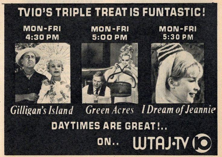 1973 WTAJ TV AD~GILLIGAN'S ISLAND~GREEN ACRES~I DREAM OF JEANNIE~EVA GABOR