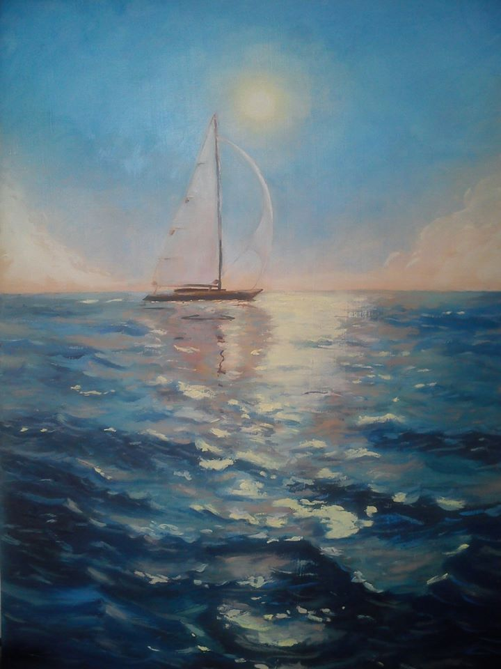 Oil on Board Study of Alexey Adamov
