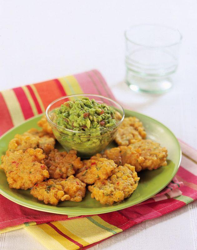 Crocchette di mais speziate con guacamole