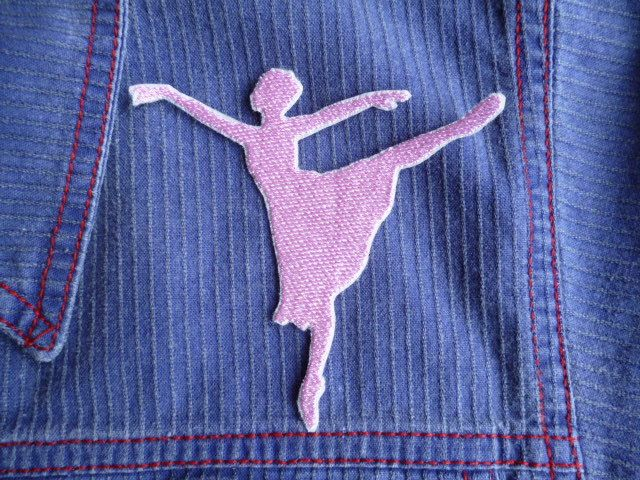 Arabesque Ballerina Silhouette iron-on patch/badge. by Trufio on Etsy