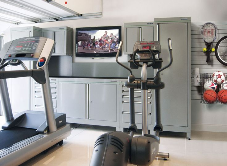 Fitness Fantatics Garage Gym Our range of garage furniture is perfect for transforming the garage into a high octane workout area. Combine garage cabinets, durable PVC flooring and tailored gym equipment and you'll be up and running in no time.