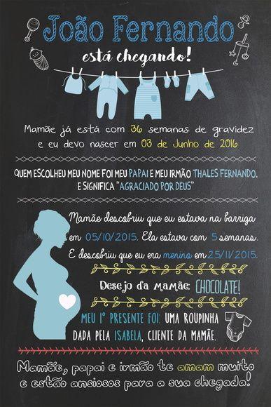 Chalkboard Chá de Bebê - ARTE DIGITAL  https://www.facebook.com/sereiartelojinha/
