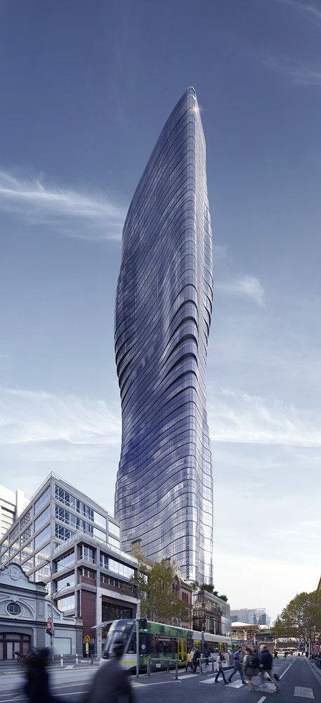 Beyonce's Curves Inspire Elenberg Fraser's Design for Melbourne Tower Architecture Skyscrapers