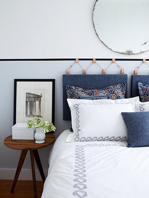 Createthis uniqueupholstered headboard in just oneafternoon.