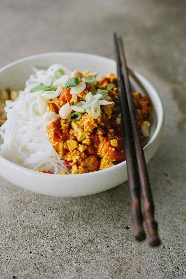 my darling lemon thyme: Spicy tofu noodles (gluten-free + vegan) + exciting news!