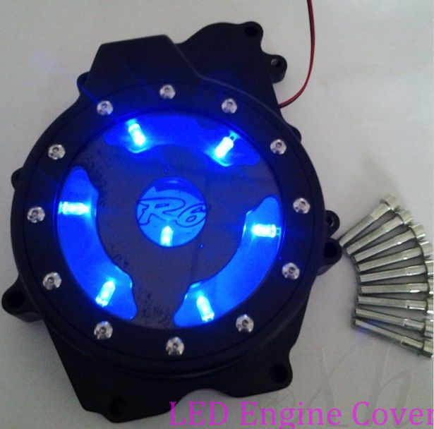 Custom LED see through Engine Stator cover for Yamaha YZF R6 2003-2006 03-09 R6S...need pink lights