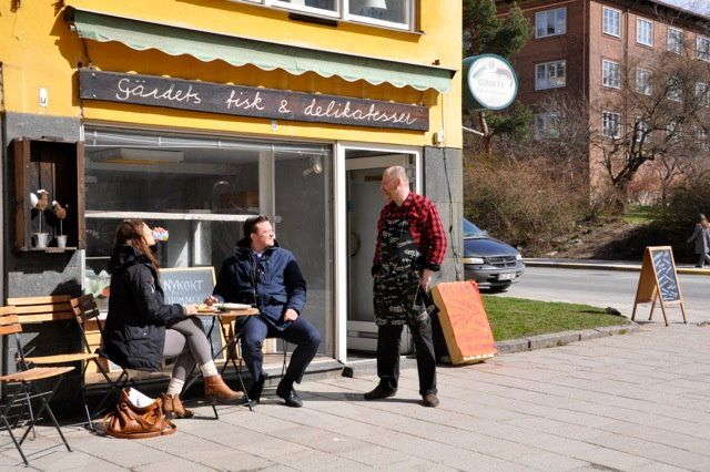 Outdoor seating in the sun!