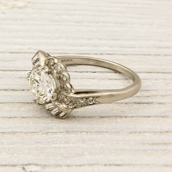 1.17 Carat Old European Cut Diamond Engagement Ring   Erstwhile Jewelry Co.  Wow. Gorgeous.