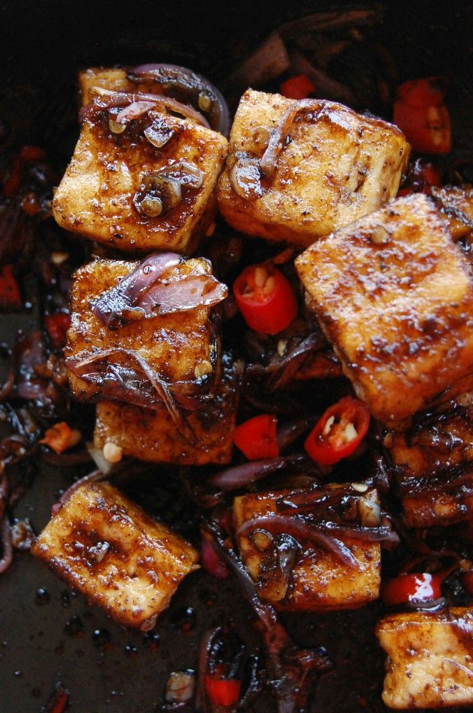 Spicy Black Pepper Tofu http://sulia.com/my_thoughts/a57afb30-296d ...