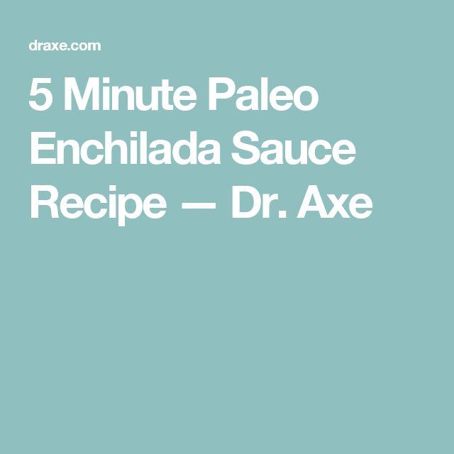 5 Minute Paleo Enchilada Sauce Recipe — Dr. Axe