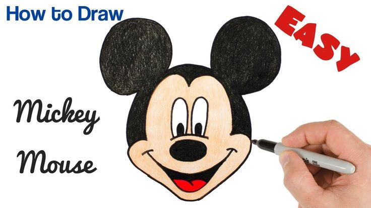 How to draw mickey mouse easy cartoon drawing for kids