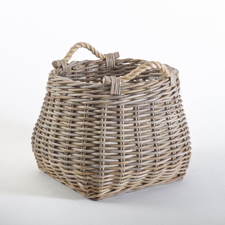 Корзина для хранения armaure ротанг серо-бежевый La Redoute Interieurs | купить в интернет-магазине La Redoute