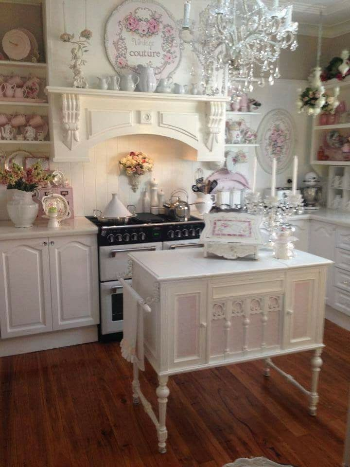 Best 20 shabby chic kitchen ideas on pinterest for Shabby chic kitchen designs