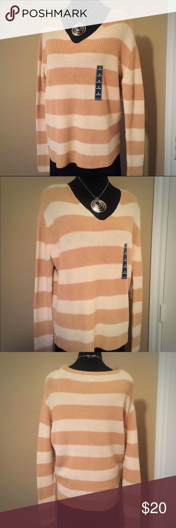 St John's Bay Sweater NWT | St John's Bay Sweater | Various Sizes | Comfortable winter everyday casual wear sweater | Additional pictures available upon request | Bundles and Offers Welcomed  Tan & Creme Stripped 1 - Medium, 1 - Large & 1 - XL Silver Grey & Creme Stripped 1 - Medium, 1 - Large & 1 St. John's Bay Sweaters