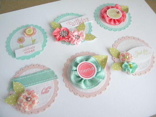 Adorable handmade embellishments