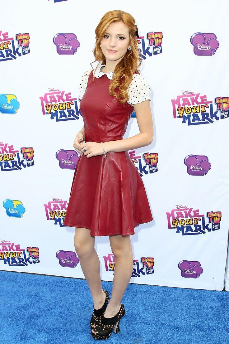 Leather dress! #BellaThorne