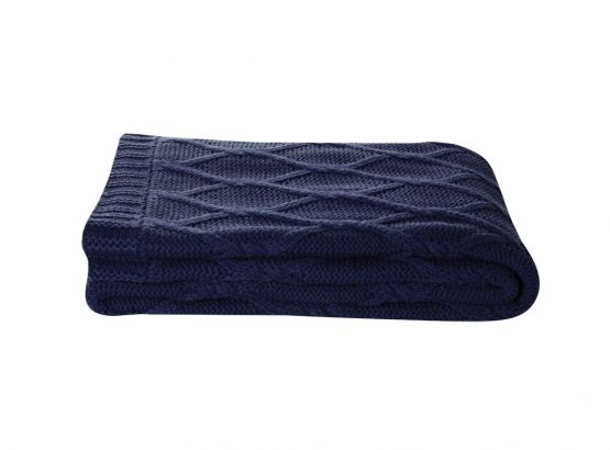KAS Hugo Throw in Navy, available at Forty Winks.