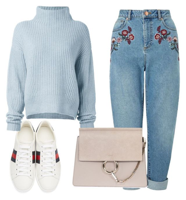 """""""Untitled #579"""" by florafow ❤ liked on Polyvore featuring Gucci, Le Kasha, Miss Selfridge and Chloé"""