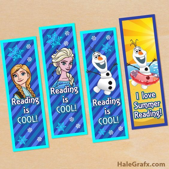 Free printable frozen bookmarks remember when i used to for Cool ways to make bookmarks