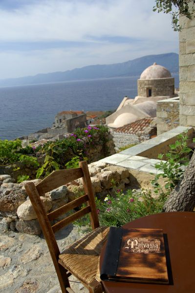 Malvasia cafe, Monemvasia, Peloponnese, Greece