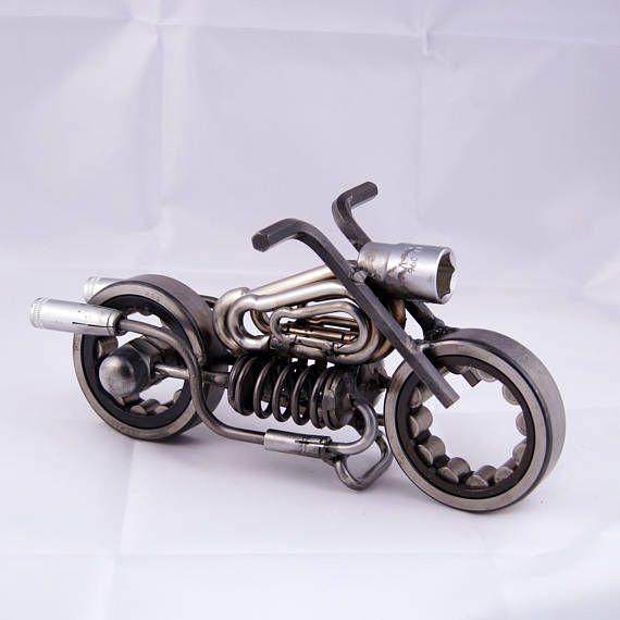 motorcycle sculpture artwork