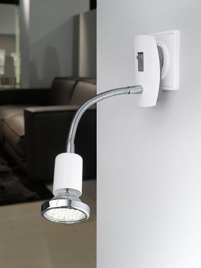 ¿Quieres un aplique en tu habitación pero no tienes la instalación en la pared, solo el enchufe?.  Con este aplique tienes la solución, lo puedes poner directamente en el enchufe, tiene su interruptor incorporado y bombilla led. Solo 24€.