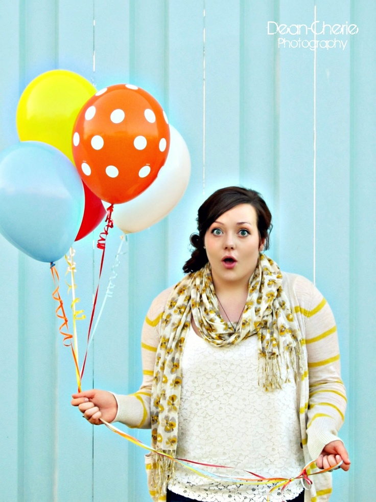 Loved her and those balloons!