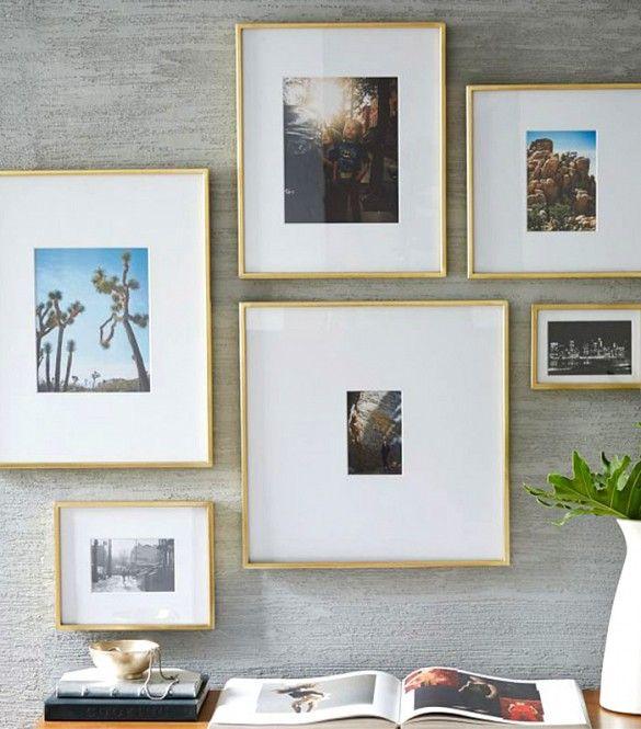 West Elm Polished Brass Gallery Frames