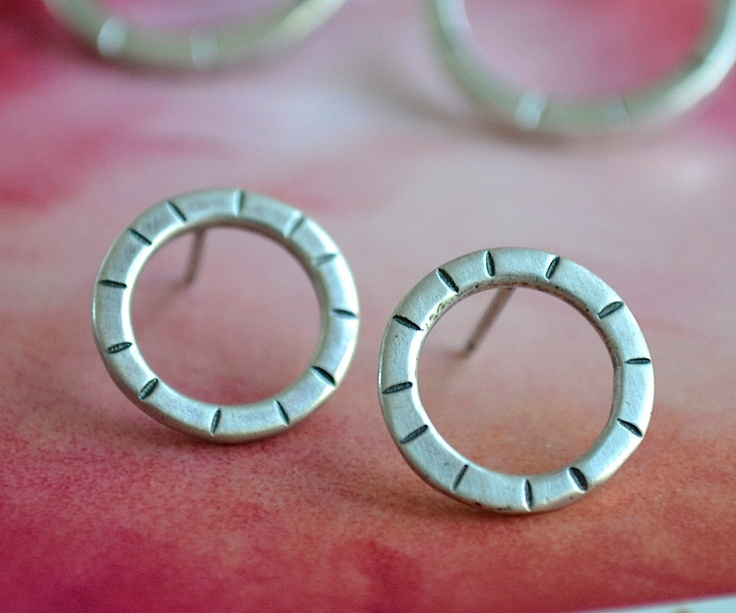 Hoop earrings meet stud earrings, and it's a great match! $45.00