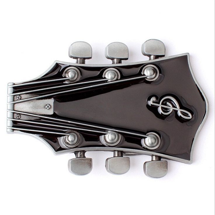 Retro Guitar Metal Belt Buckle – Great Guitar Gifts