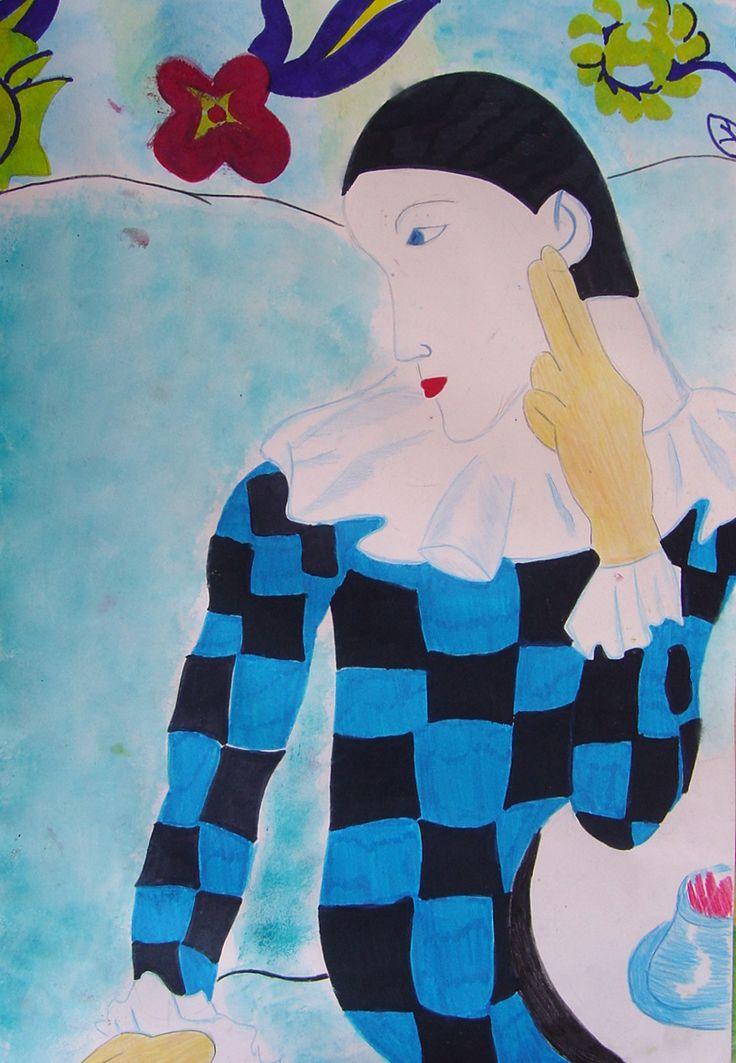 Arlecchino, olio su tela, 1917, Pablo Picasso, Museu Picasso di Barcellona.