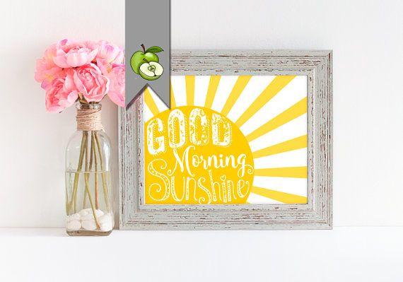 Good morning sunshine Nursery art kitchen art by TheArtyApples