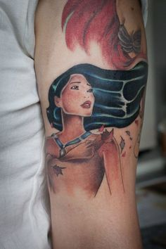 Pocahontas, Tattoo colors and Disney tattoos on Pinterest
