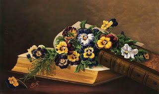 Коллекция картинок: Винтажные цветочные литографии