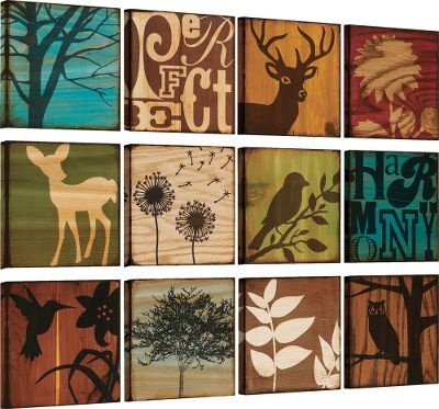 Super cute nature inspired wall art. This would look so good in B's nursery.
