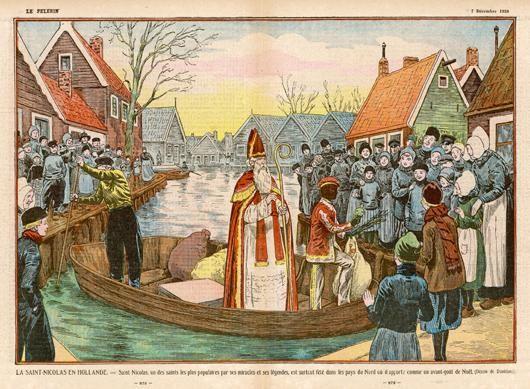 Sinterklaas & Piet arriving by boat Dec. 6th.