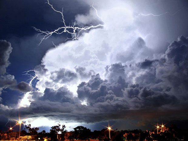 May: Balcony lightshow, Darwin, Northern Territory. By Mark Percival