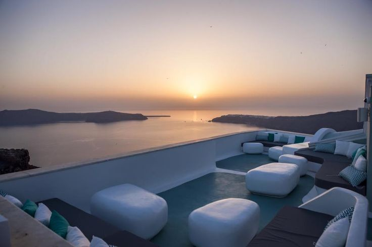 The Sky Bar at Andronikos Hotel is an ideal place to watch the breathtaking views of the Mykonian sunset over town
