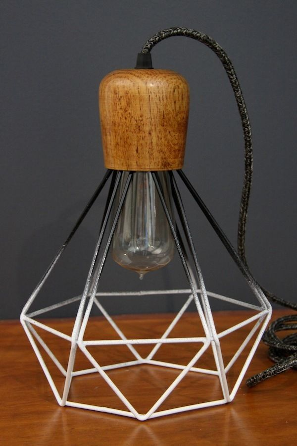 23 best wall lights images on pinterest sconces appliques and diamond geometric wire wooden lamp cage pendant scandinavian light cloth cord ebay mozeypictures Image collections