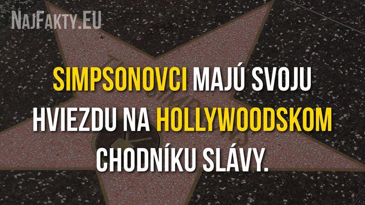 Simpsonovci majú svoju hviezdu na Hollywoodskom chodníku slávy.