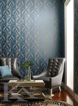 Rafinamentul unui stil unic. Wallpaper Blue.
