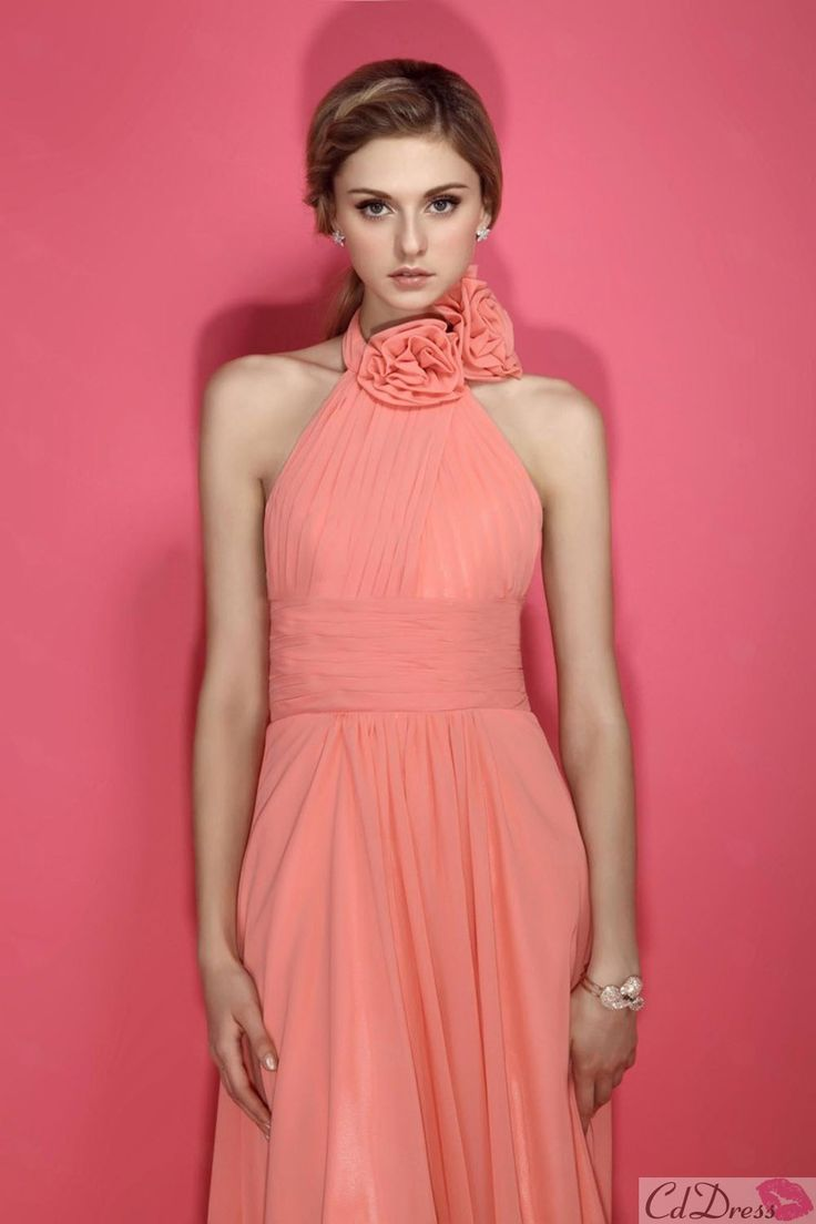 Pink / Salmon Bridesmaid Dress  Come to Davison Bridal in Davison, MI for all of your wedding day and special event needs!  Call (810) 658-6070 or visit our website www.davisonbridal.com for more information!