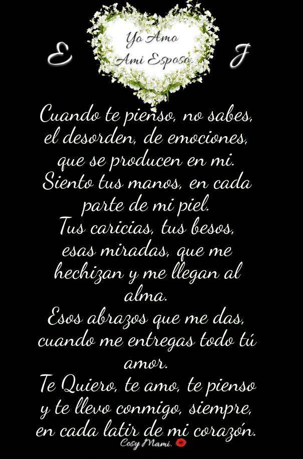Para ti  mi Amor Te Amo Esposo mio.  E❤J mi Vida.
