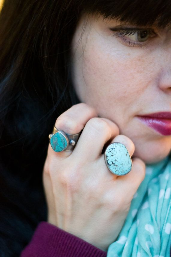 Turquoise Cocktail Ring by BuffaloLucy